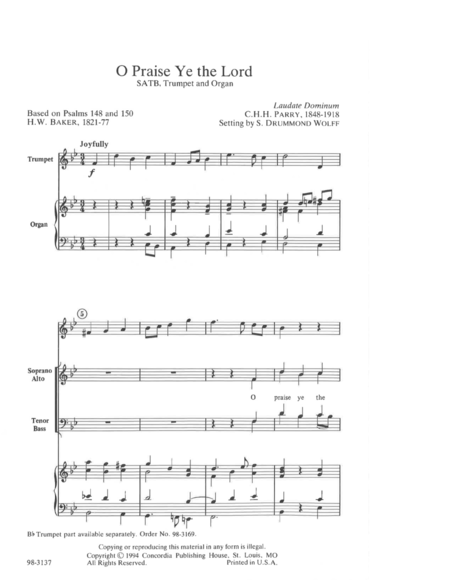 O Praise Ye The Lord