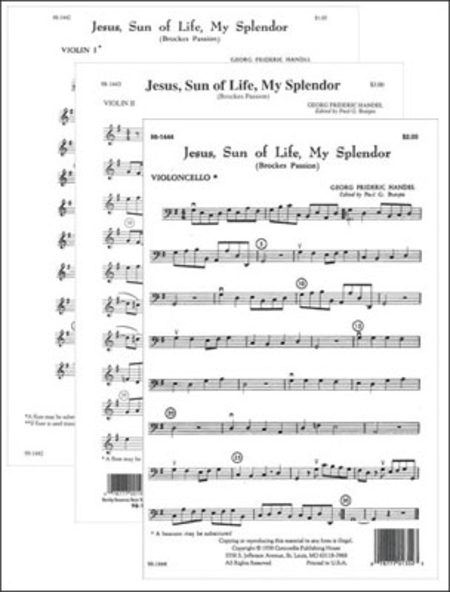 Jesus, Sun of Life, My Splendor