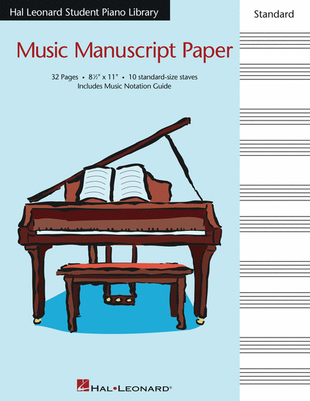 Hal Leonard Student Piano Library Standard Music Manuscript Paper