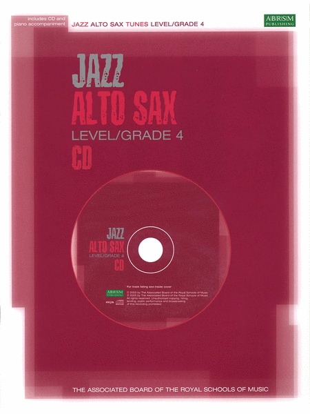 Jazz Alto Sax CD