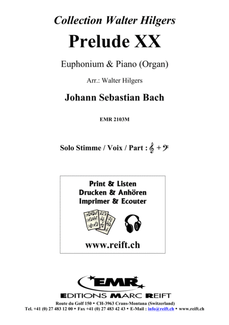Prelude XX BWV 865