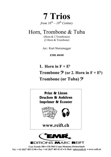 7 Trios aus der 16.-18. Jahrhundert