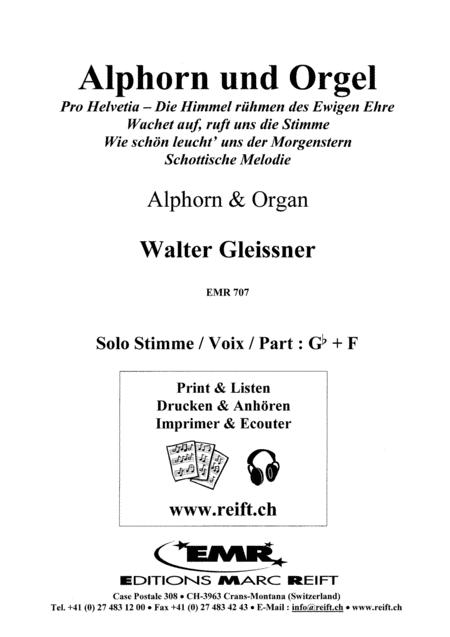 Alphorn und Orgel (Alphorn F/Gb)
