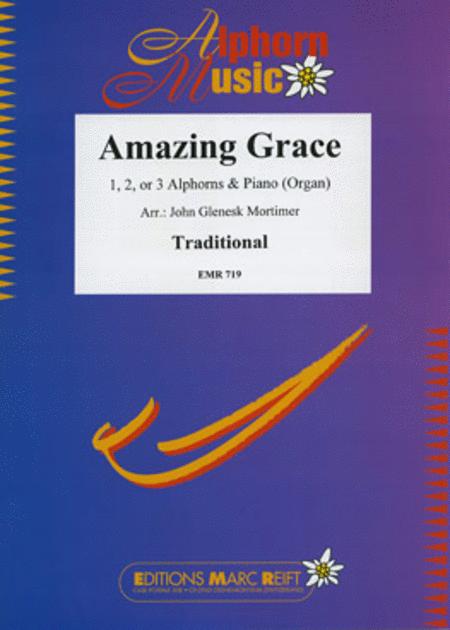 Amazing Grace (1, 2 or 3 Alphorns)