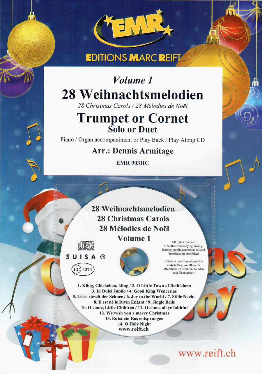 28 Weihnachtsmelodien Vol. 1 (with CD)
