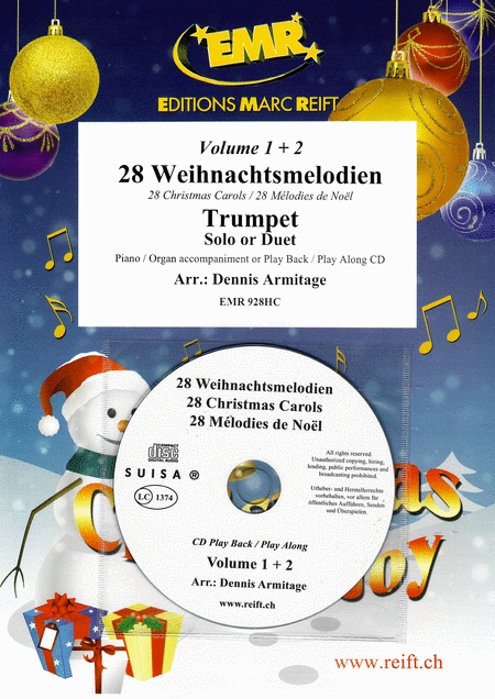 28 Weihnachtsmelodien Vol. 1 & 2 (with CD)