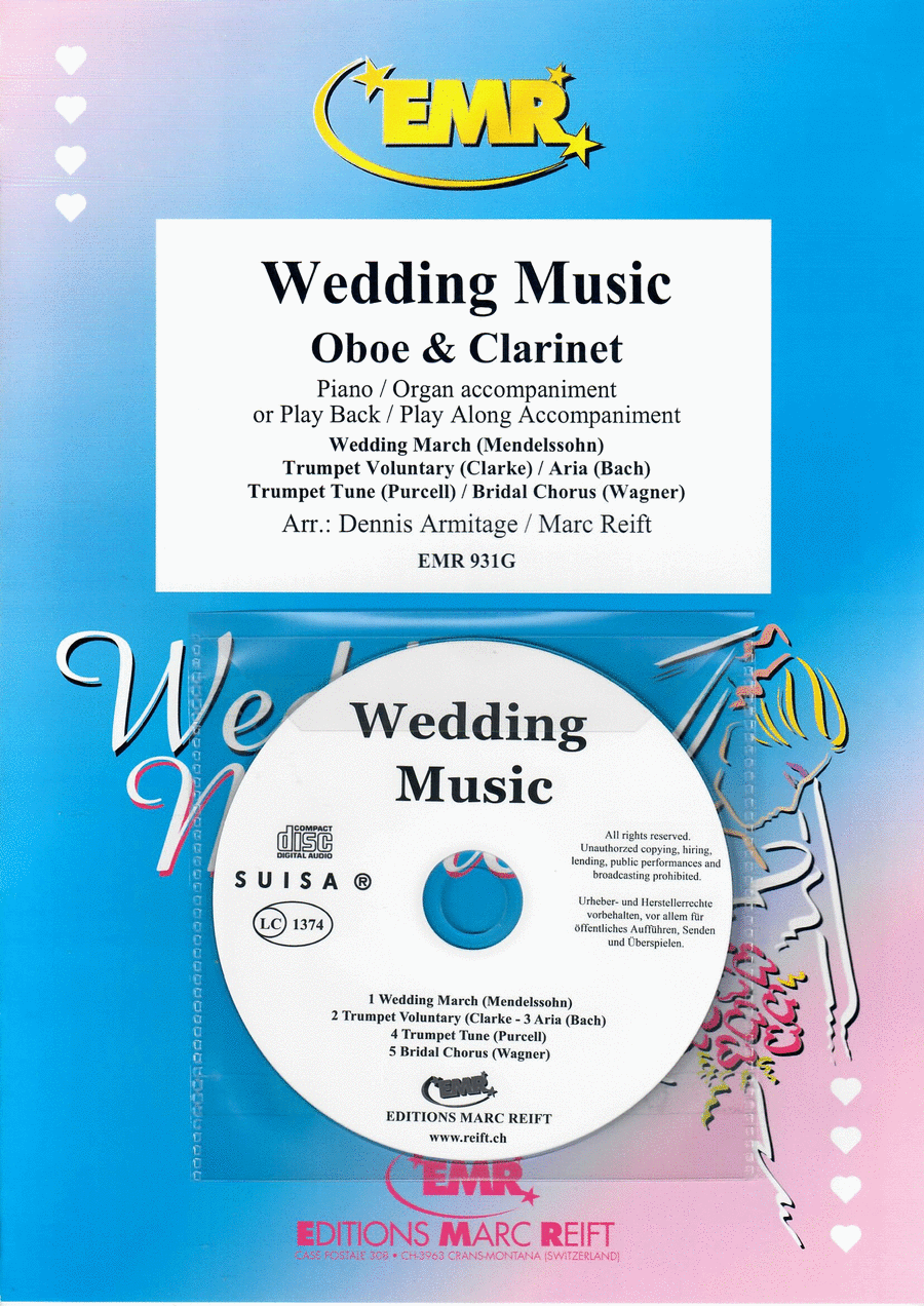 Wedding Music - Oboe/Clarinet Duet (with CD)