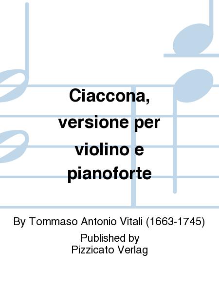 Ciaccona, versione per violino e pianoforte