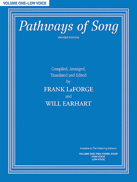 Pathways Of Song, Volume 1 - Low Voice