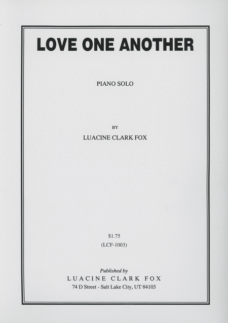 Love One Another - Piano Solo