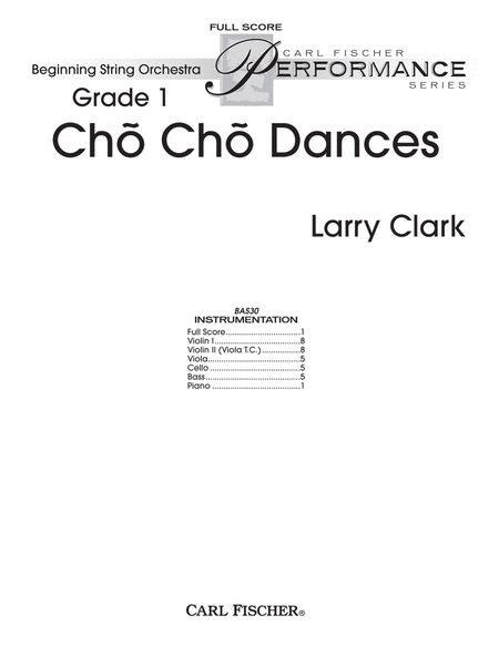 Cho Cho Dances