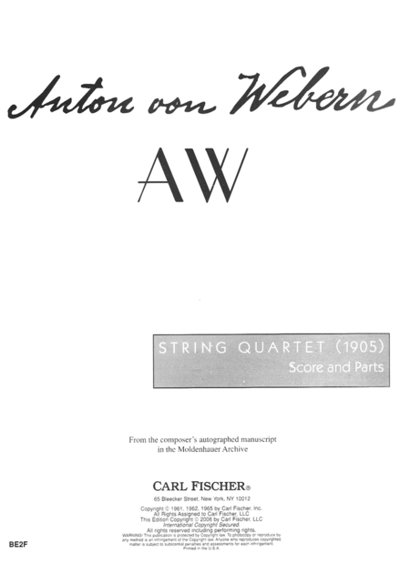 String Quartet (1905)