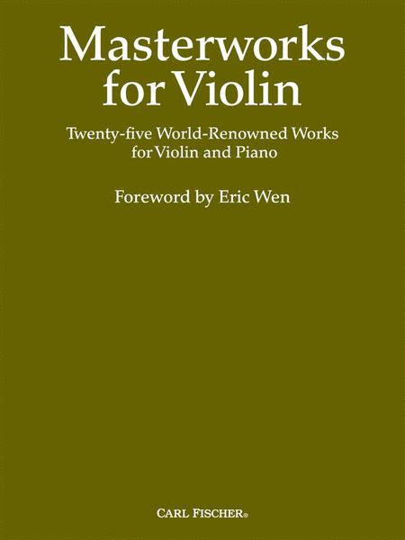 Masterworks For Violin