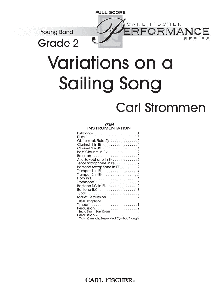 Variations On a Sailing Song