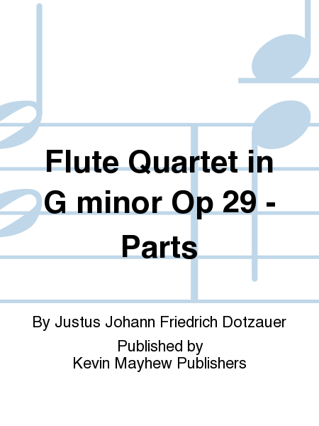 Flute Quartet in G minor Op 29 - Parts