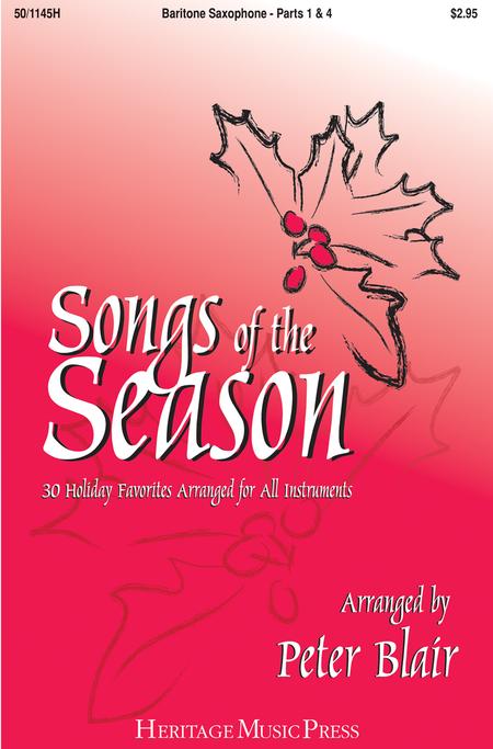 Songs of the Season - Baritone Saxophone (Parts 1 & 4)