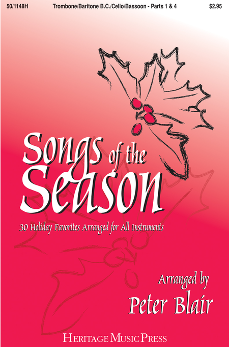 Songs of the Season - Trombone/Baritone B.C./Cello/Bassoon (Parts 1 & 4)