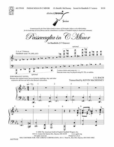 Passacaglia in C Minor