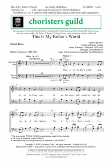 This Is My Father's World - Choral Score