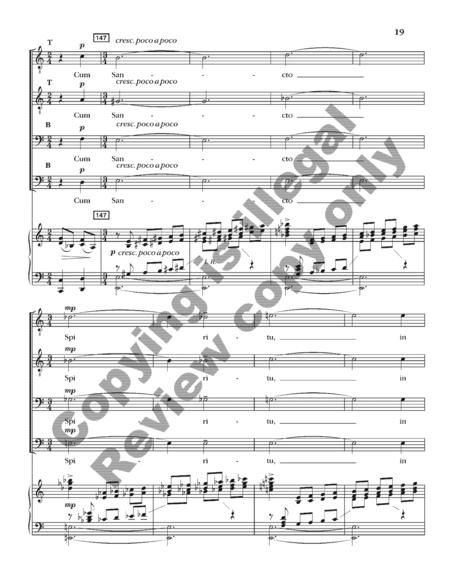 Gloria (TTBB Choral Score)