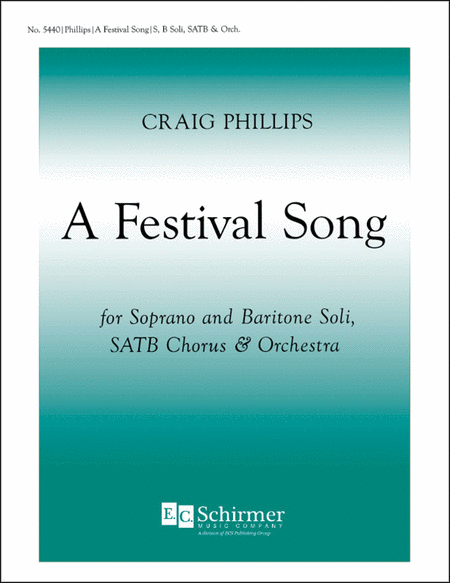 A Festival Song (Choral Score)