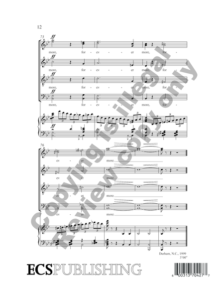 Cherish Your Land (Choral Score)