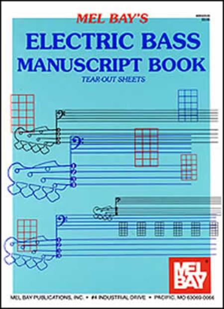 Electric Bass Manuscript Book