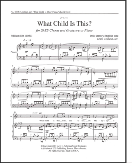 What Child is This? (piano/choral score)