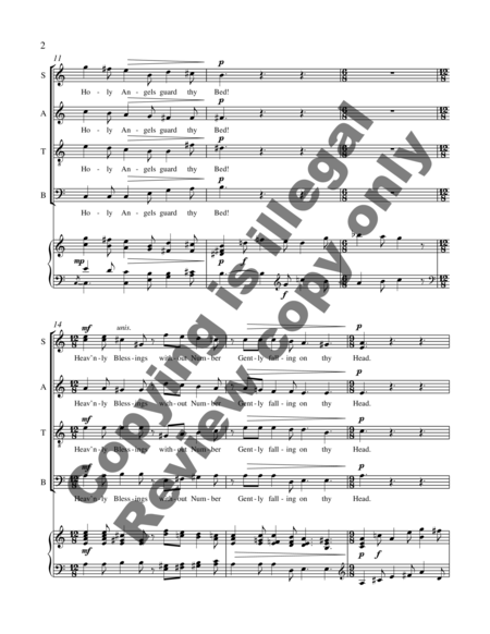 A Cradle Hymn (piano/choral score)