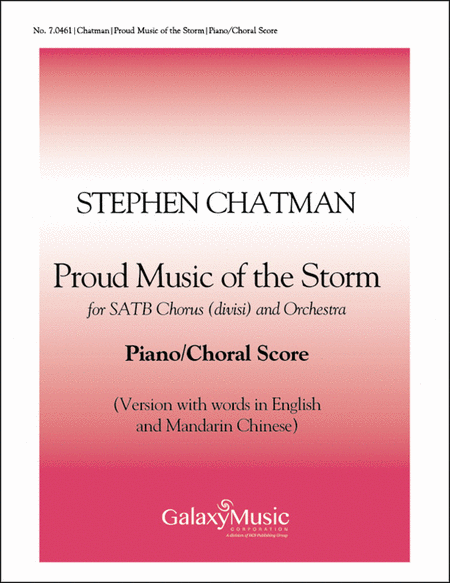 Proud Music of the Storm (Piano/Choral Score-English/Mandarin)