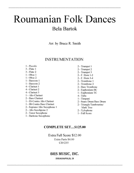 Roumanian Folk Dances