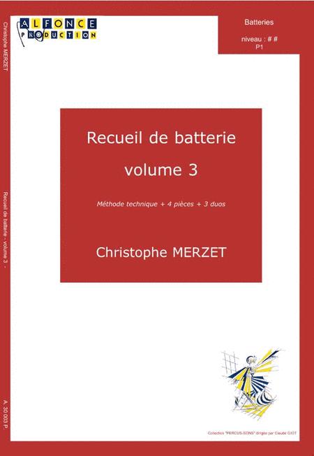 Recueil de batterie - Volume 3