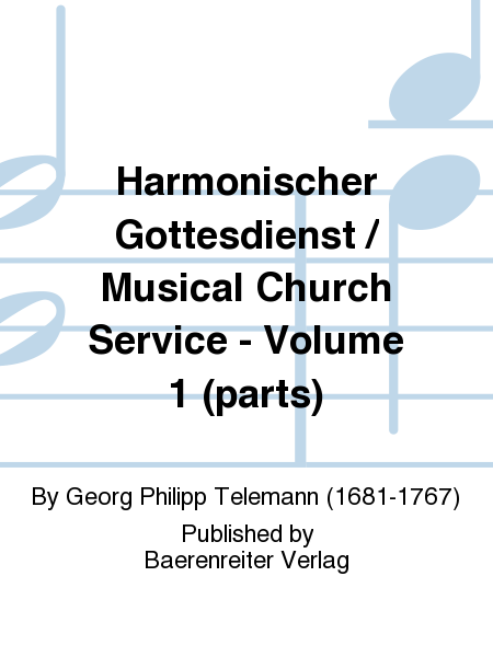 Harmonischer Gottesdienst / Musical Church Service - Volume 1 (parts)