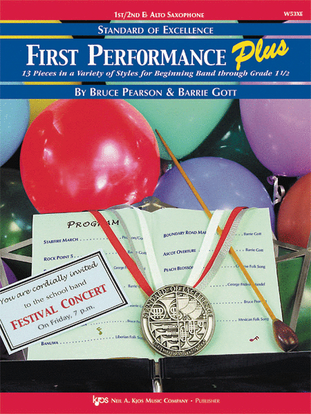 Standard of Excellence: First Performance Plus-1st/2nd Eb Alto Sax