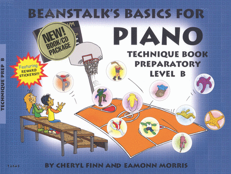 Beanstalk's Basics for Piano - Technique Book, Prep Level B (Book/CD)