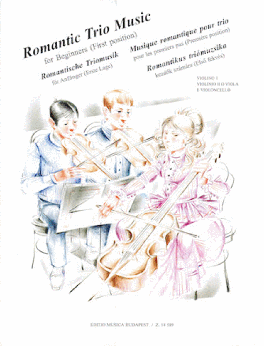 Romantic Trio Music for Beginners - First Position