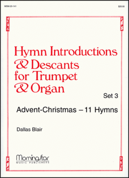Hymn Introductions and Descants for Trumpet and Organ - Set 3