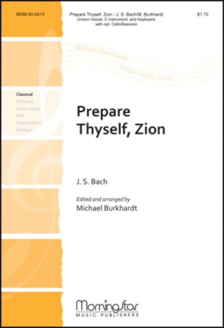 Prepare Thyself Zion (Choral Score)