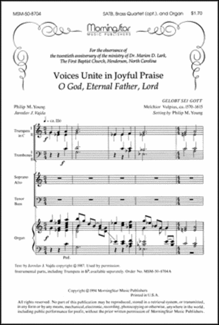 Voices Unite in Joyful Praise/O God, Eternal Father, Lord (Brass Quartet Parts)
