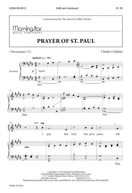 Prayer of St. Paul