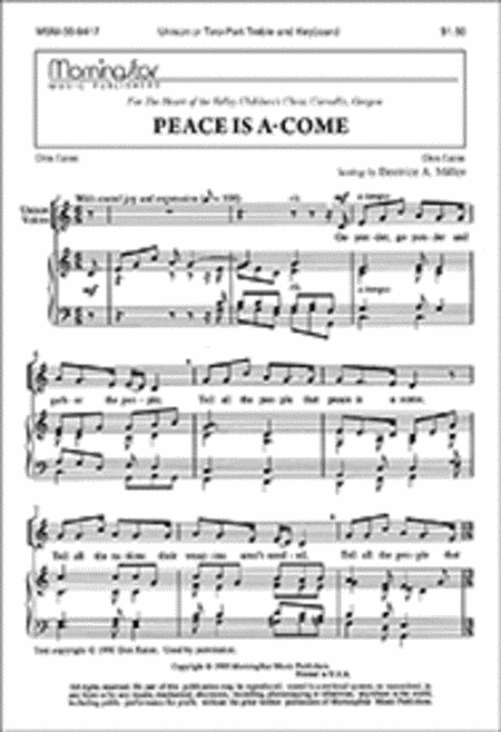 Peace Is A-Come