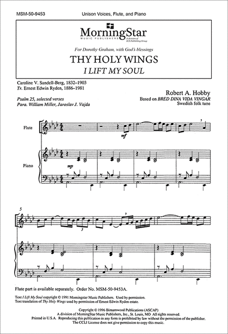 Thy Holy Wings: I Lift My Soul (Choral Score)
