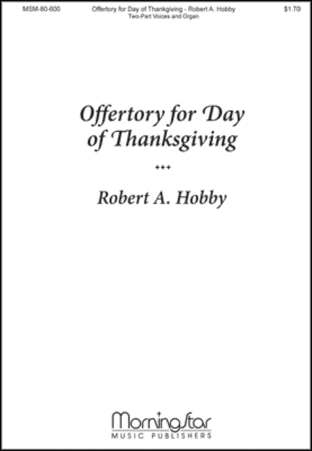 Offertory for Day of Thanksgiving