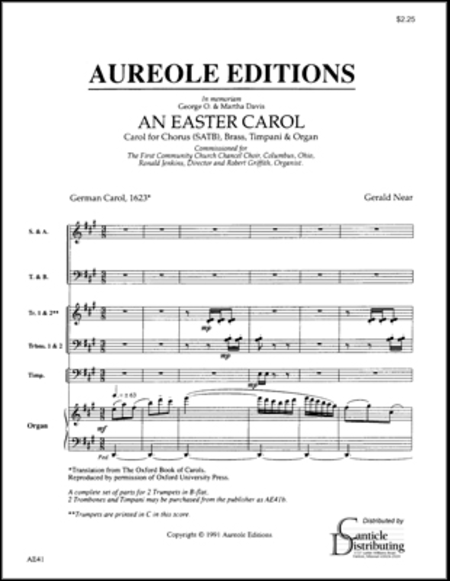An Easter Carol (Choral Score)