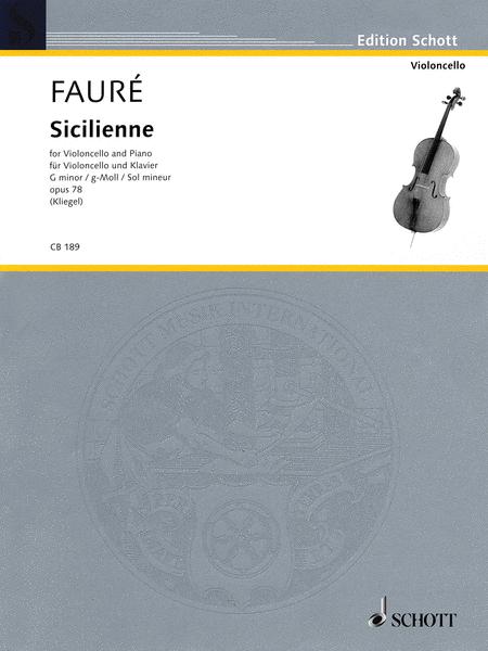 Sicilienne Op. 78 in G minor