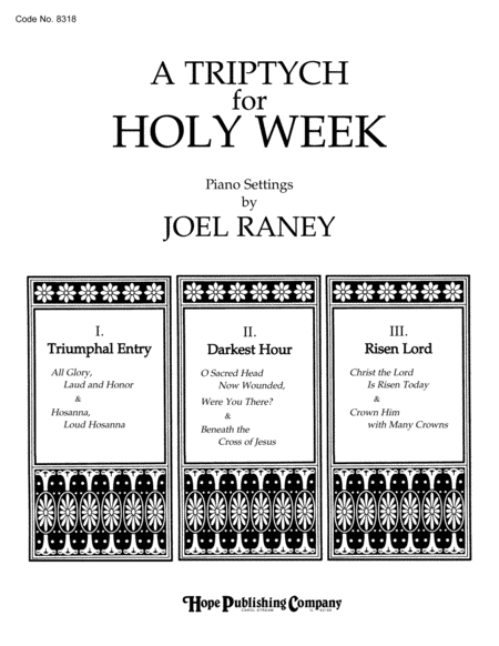 A Triptych For Holy Week