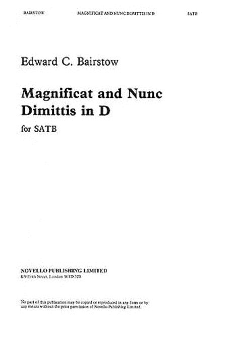 Magnificat and Nunc Dimittis in D