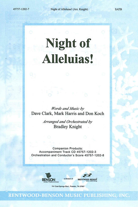 Night Of Alleluias (Split Track Accompaniment CD) (Pull Out)