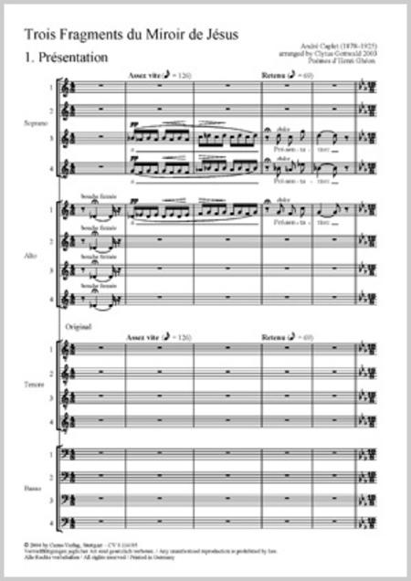 Gottwald/Caplet: Trois Fragments de son