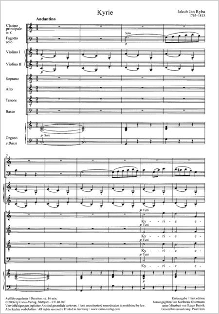 Missa pastoralis in C